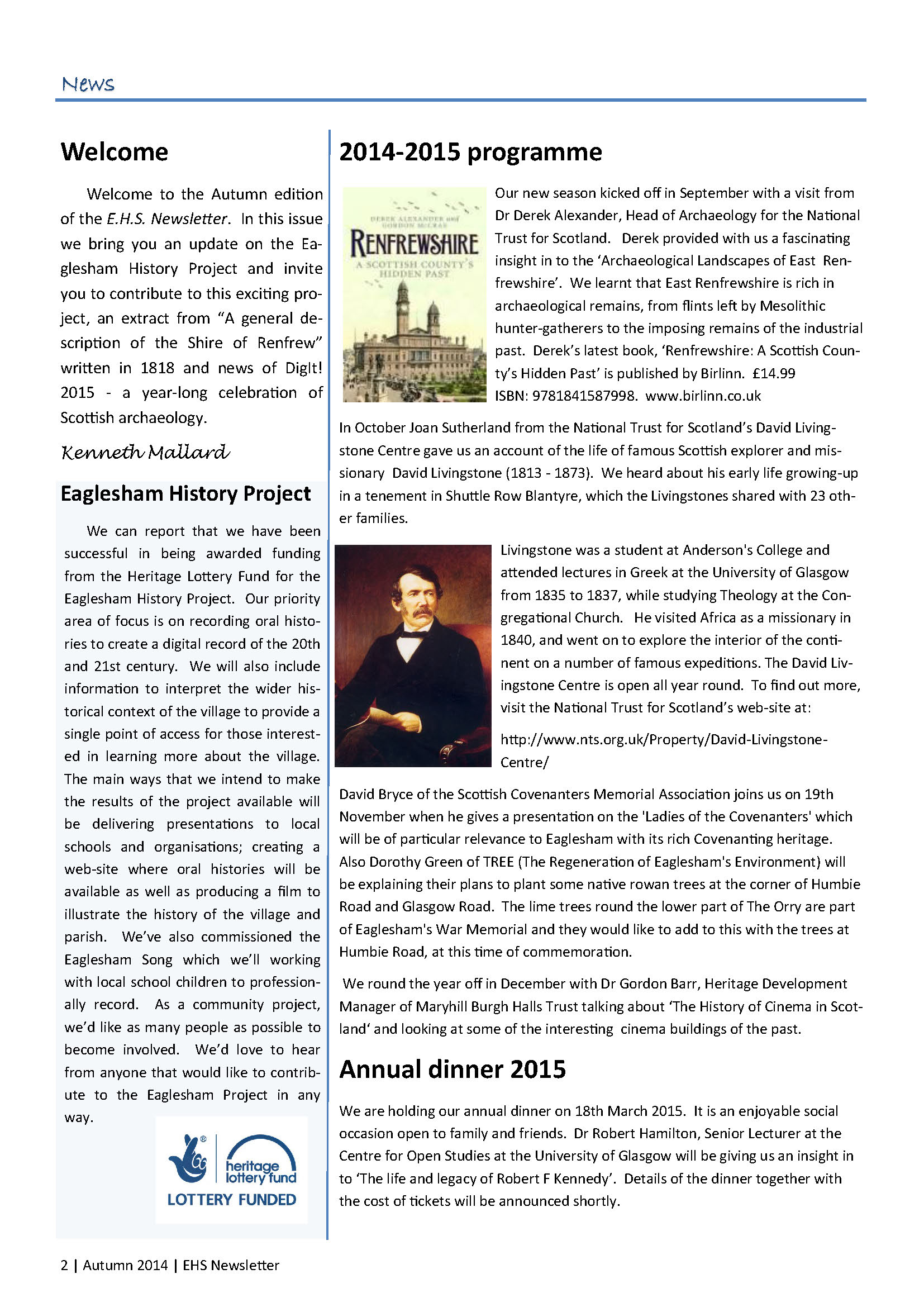 2. EHS Newsletter Autumn 2014 full colour_Page_2