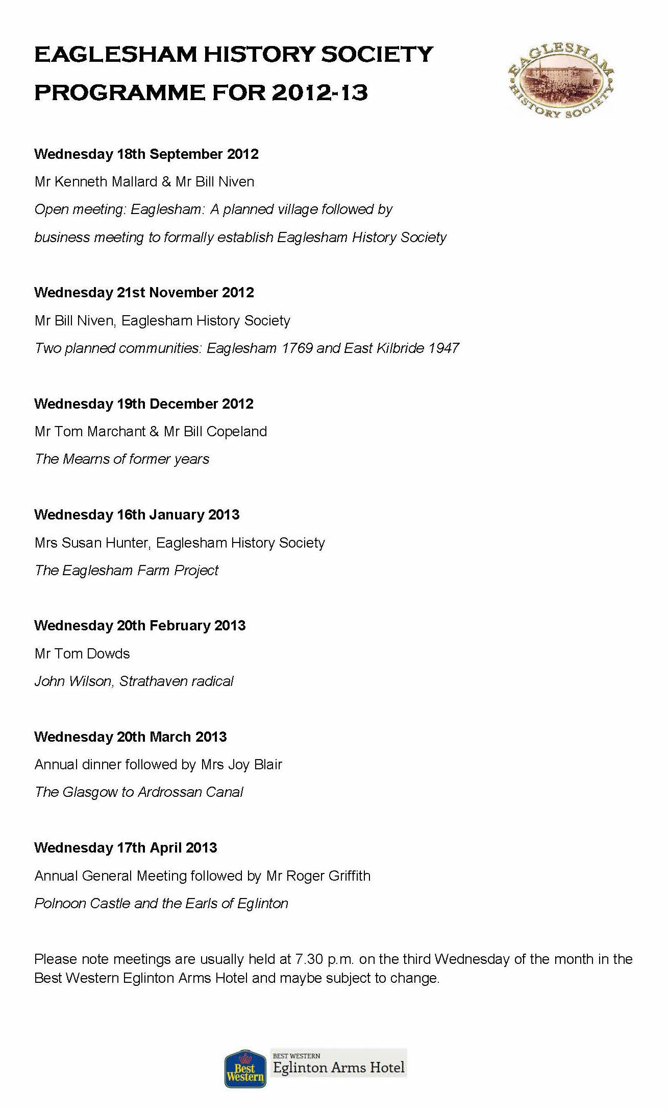 4. EHS Programme 2012-13 Revised