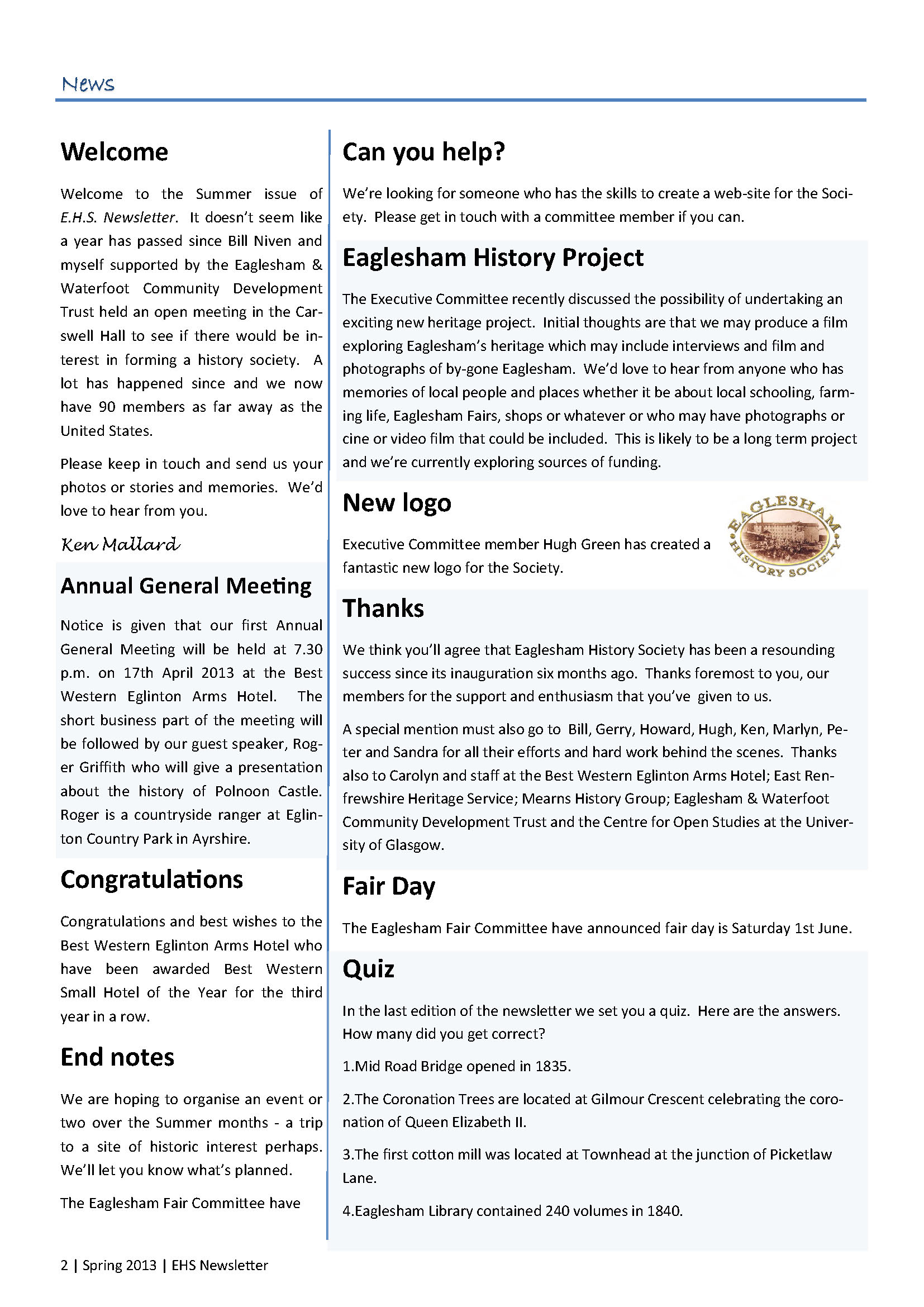 5. EHS Newsletter Spring 2013 full colour_Page_2