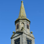 The spire of Eaglesham Parish Church