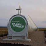 The distinctive turbines of Whitelee Windfarm started to appear on the moors outside Eaglesham in 2006