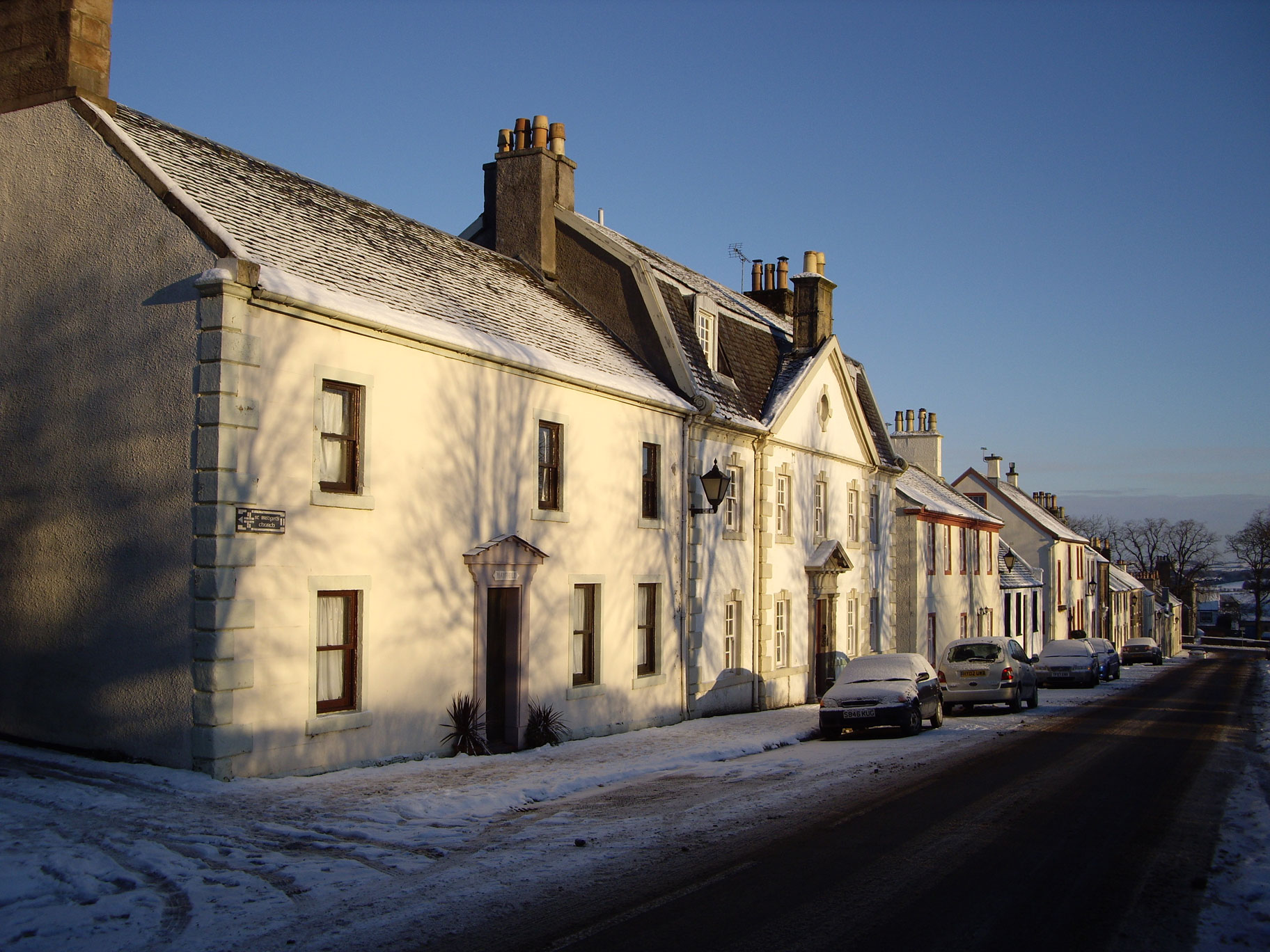 Polnoon Street on a winter morning