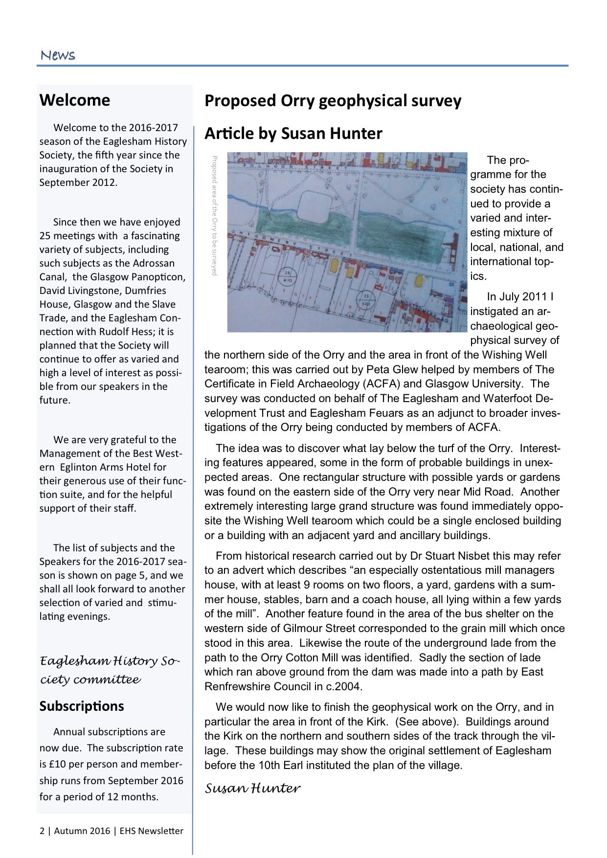 EHS Newsletter Autumn 2016 p2