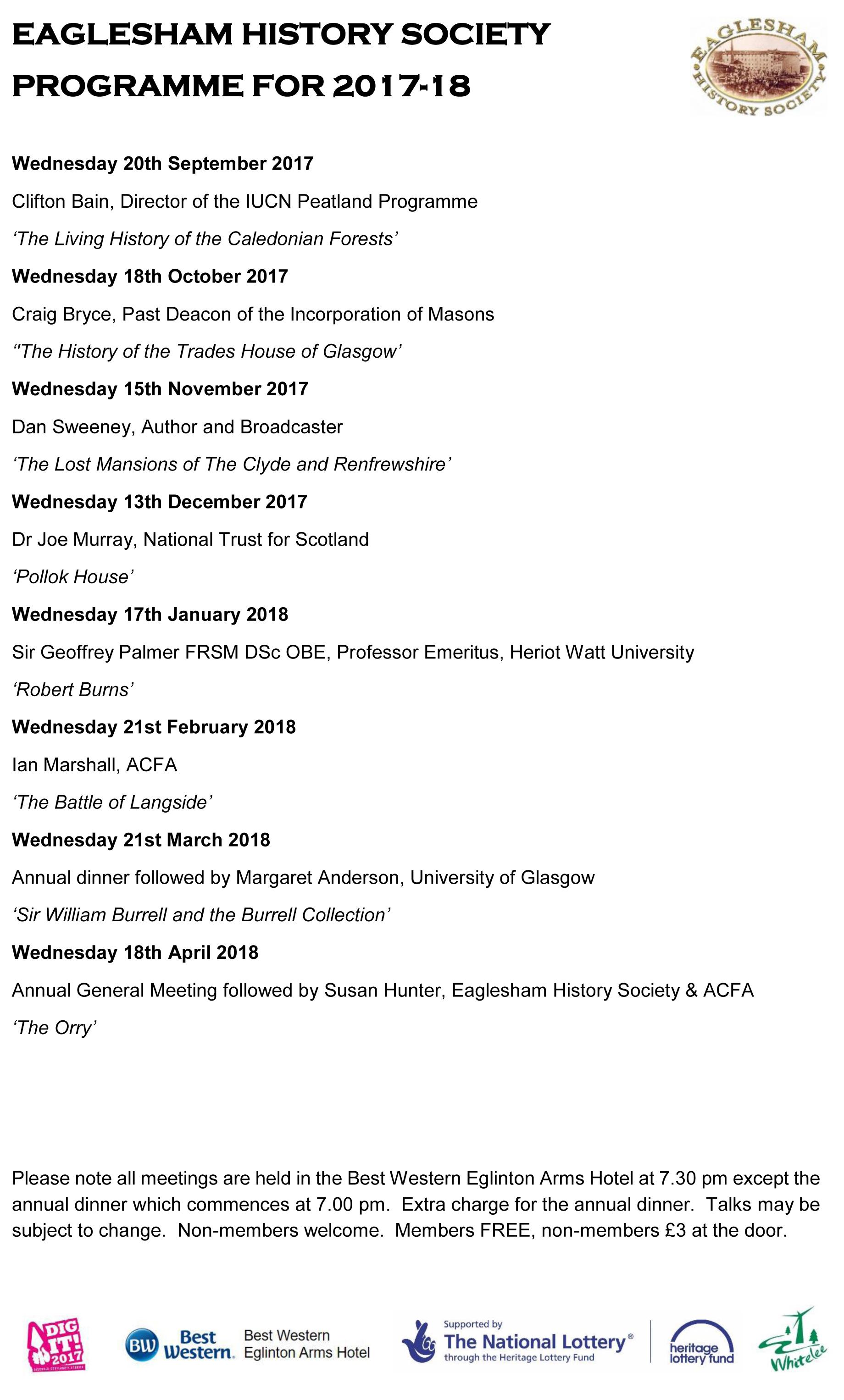 EHS Programme 2017-18